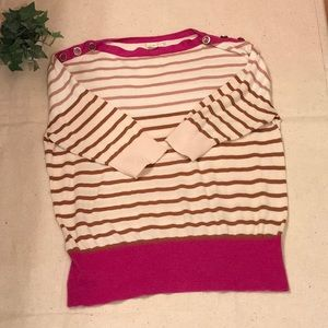 Anthropologie sweater-Med-tan striped